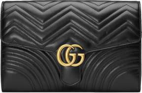 Gucci GG Marmont clutch - BLACK LEATHER - STYLE