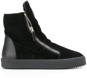 Giuseppe Zanotti Design shearling lined hi-top sneakers
