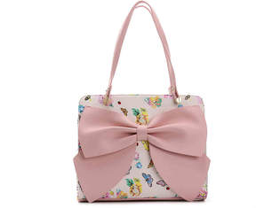 Betsey Johnson Bow Regard Polka Dot Satchel - Women's