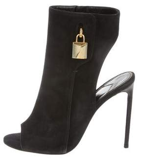 Tom Ford Cutout Peep-Toe Booties