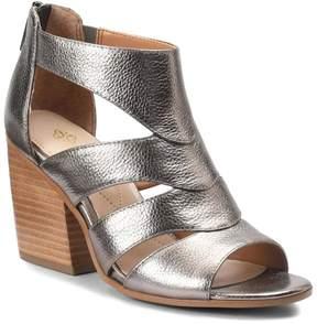 Isola Leather Block-Heel Wedge Sandal