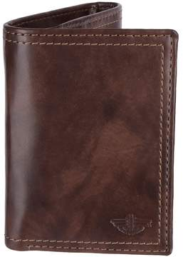 Dockers Men's Rfid-Blocking Trifold Wallet with Zipper Closure