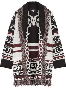 Etro Fringed Wool-jacquard Cardigan - Off-white