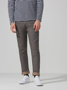 Frank and Oak The Cooper Slim-Straight Selvedge Jean in Grey