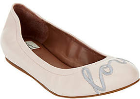 ED Ellen Degeneres Leather Ballet Flats -Langston