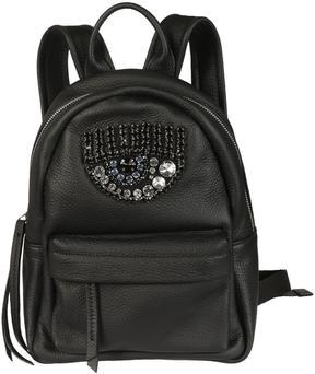 Chiara Ferragni Logomania Gem Embellished Eye Small Backpack