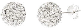 Bliss Cubic Zirconia & Sterling Silver Fireball Stud Earrings