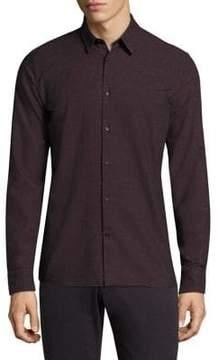 J. Lindeberg Daniel Slim-Fit Button-Down Cotton Dress Shirt