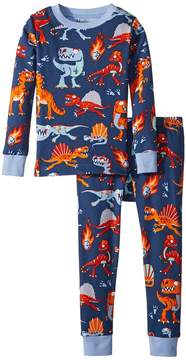 Hatley Volcanos Dinos Long Sleeve Pajama Set Boy's Pajama Sets