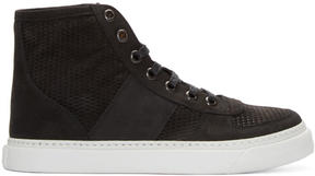 Marc Jacobs Black Suede High-Top Sneakers