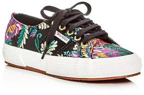 Superga Korelaw Embroidered Satin Lace Up Sneakers