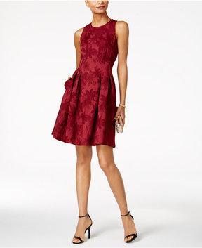 Nine West Jacquard Fit & Flare Dress