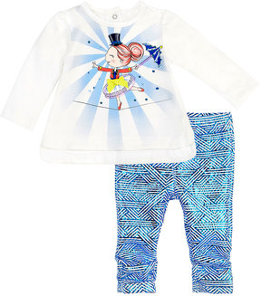 Petit Lem Dancer Two-Piece Outfit Set, White, Size 3-24 Months
