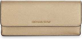 MICHAEL Michael Kors Money Pieces metallic finish flat leather wallet - PALE GOLD - STYLE