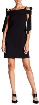Donna Morgan Bowtie Cold-Shoulder Shift Dress