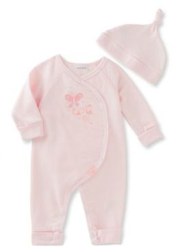 Absorba Babys Two-Piece French Terry Coverall and Hat Set