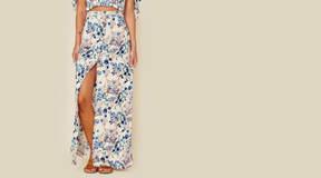 Blue Life Bali Button Up Skirt