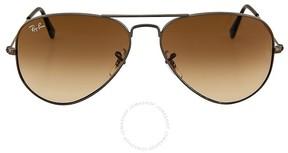 Ray-Ban Aviator Gunmetal Frame Brown Non-Polarized Crystal Lens 58mm Men's Sunglasses