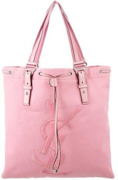Saint Laurent Canvas Kahala Tote - PINK - STYLE