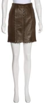 Alaia Leather Mini Skirt