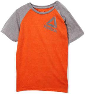 Reebok Vibrant Orange 'Reebok' Tilt Logo Raglan Tee - Toddler & Boys