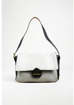 Reed Krakoff Pre-owned Black Multi Pebbled Leather Front Flap Shoulder Bag.