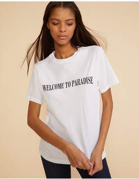 Cynthia Rowley | Welcome To Paradise Tee | Xl | White