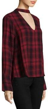 Bella Dahl Plaid Cotton Choker Top