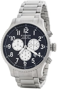 Filson Mackinaw Chronograph Field Watch - 43mm, Polished Stainless Steel Band (For Men)