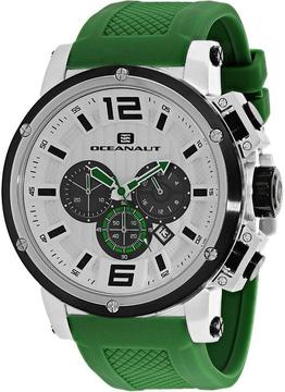 Oceanaut Spider Collection OC2143 Men's Stainless Steel and Green Silicone Watch