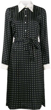 Bella Freud Cybil polka dot long sleeve dress