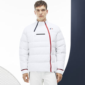 Lacoste Men's French Sporting Spirit Edition Elasticized Panel Quilted Jacket
