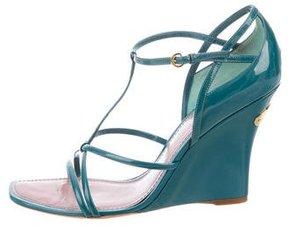Louis Vuitton Vernis Multistrap Wedge Sandals