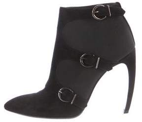 Walter Steiger Pointed-Toe Canvas Booties