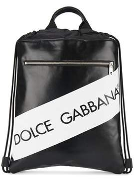 Dolce & Gabbana Dolce E Gabbana Men's White/black Leather Backpack.