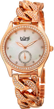 Burgi Unisex Rose Goldtone Bracelet Watch-B-177rg