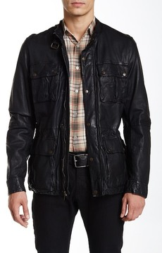 Cole Haan Genuine Leather Vintage Moto Jacket
