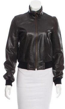 Celine Leather Bomber Jacket