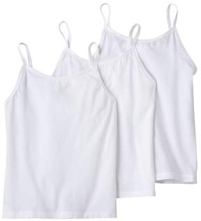 Hanes Girls 4-12 3-pk. Solid White Camis