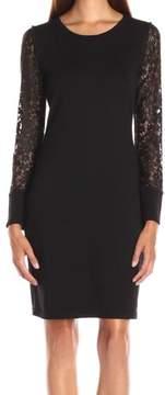 Calvin Klein Women's Lace-Sleeve Sweater Dress