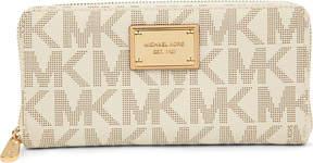MICHAEL Michael Kors Jet Set woven wallet - WHITE - STYLE