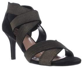 Style&Co. Sc35 Seleste Elastic Strap Dress Sandals, Black/gold.