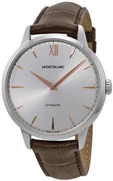 Montblanc Meisterstuck Heritage Automatic Silver Dial Brown Leather Men's Watch