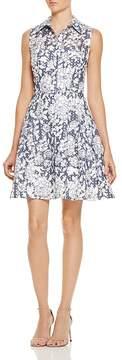 Betsey Johnson Floral & Grid Burnout Dress
