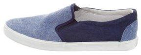 Bonpoint Boys' Denim Slip-On Sneakers