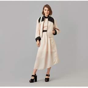 Amanda Wakeley   Rose Gold Sheer Cloque Jacquard Jacket   M   Gold