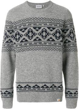 Carhartt fair isle knit jumper