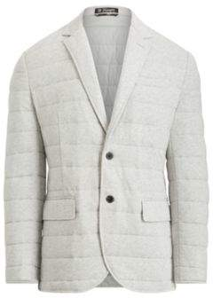 Ralph Lauren Quilted Cotton Jersey Jacket Spring Heather Xs