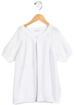 Il Gufo Girls' Short Sleeve Cardigan
