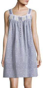 Eileen West Floral Cotton Chemise